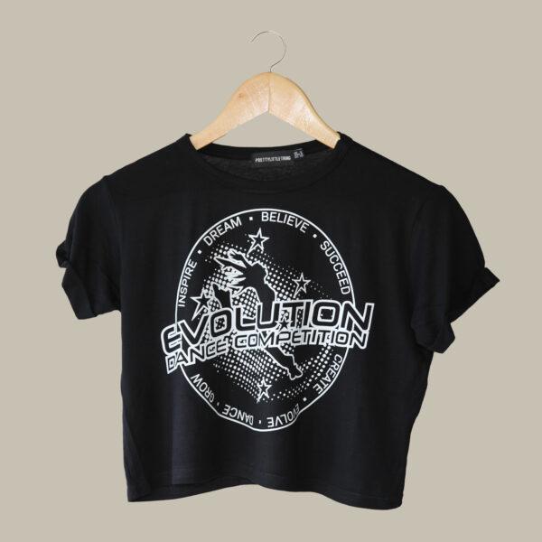 Crop - Evolution - Black Rolled Sleeves