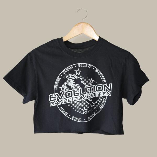 Crop - Evolution - Rolled Sleeve Black